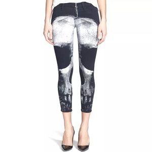 Hudson skull design cropped ankle jeans size 27